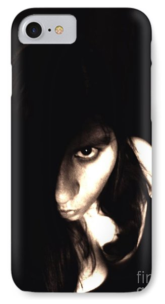 Let The Darkness Take Me IPhone Case by Vicki Spindler