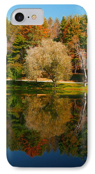 Letchworth Autumn Reflections IPhone Case by Richard Engelbrecht