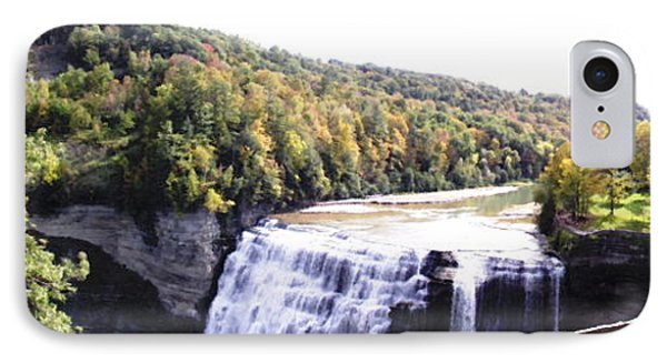 Letchworth State Park Middle Falls Panorama Phone Case by Rose Santuci-Sofranko