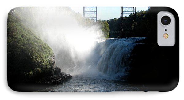 Letchworth State Park Upper Falls And Railroad Trestle IPhone Case by Rose Santuci-Sofranko