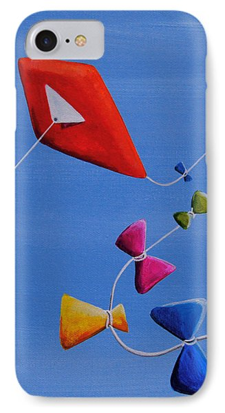 Let's Go Fly A Kite IPhone Case by Cindy Thornton