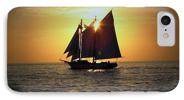 Sailing At Sunset IPhone Case