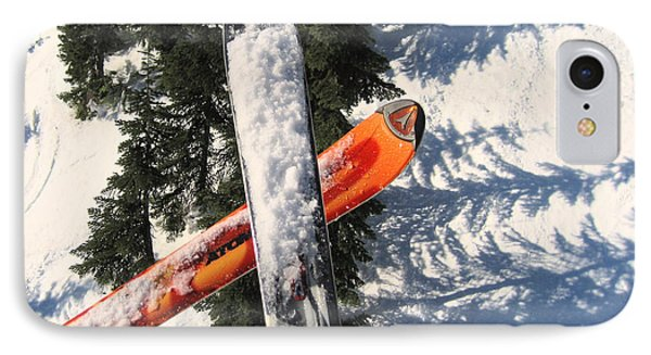 Lets Toast Our Skis Together Phone Case by Kym Backland