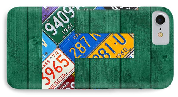 Letter E Alphabet Vintage License Plate Art IPhone Case