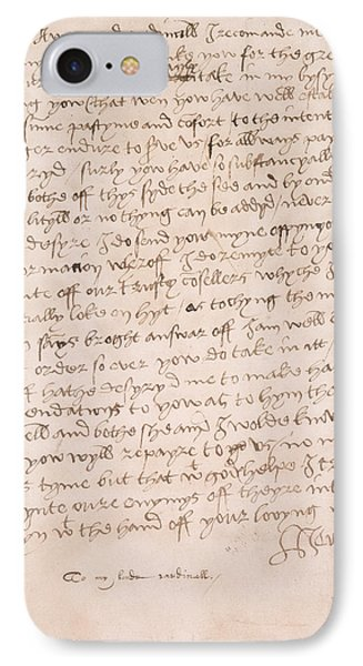 Letter Of Henry Viii IPhone Case by British Library