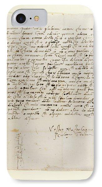 Letter Of Michelangelo IPhone Case