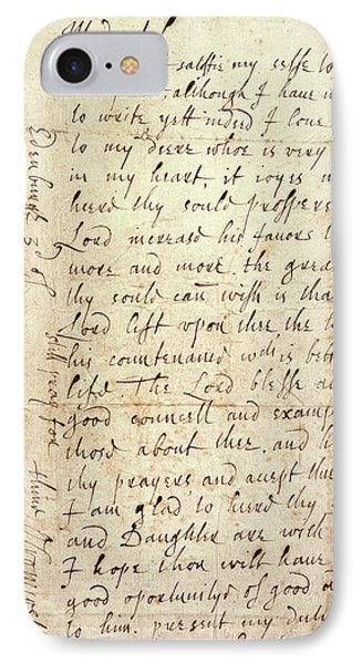 Letter Of Oliver Cromwell IPhone Case