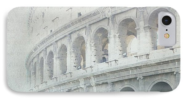 Letters From The Colosseum IPhone Case by Lisa Parrish