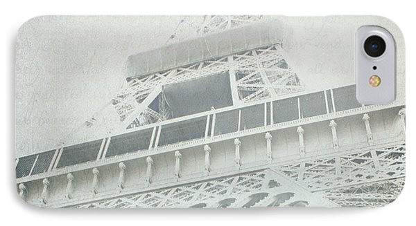 Letters From The Eiffel - Paris IPhone Case by Lisa Parrish