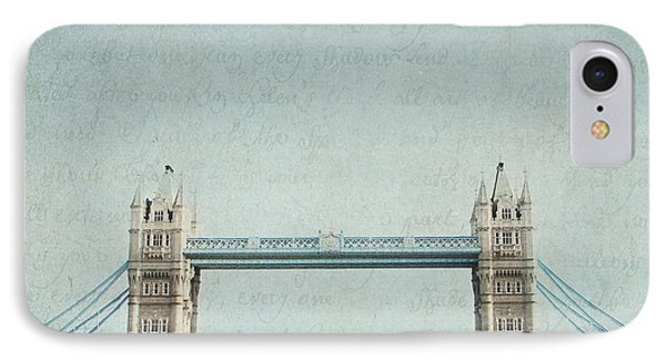 Letters From Tower Bridge - London IPhone Case by Lisa Parrish