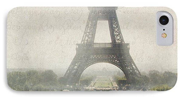 Letters From Trocadero - Paris IPhone Case by Lisa Parrish