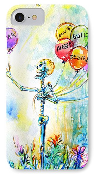 IPhone Case featuring the painting Letting Go by Heather Calderon