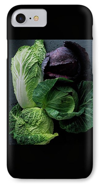 Cabbage iPhone 7 Case - Lettuce by Romulo Yanes