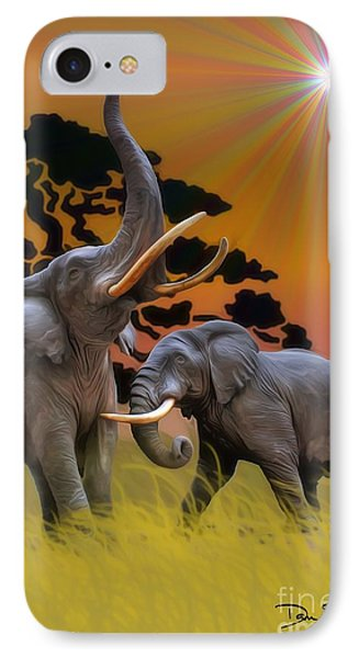Leviathans Of The Land IPhone Case by Dan Stone