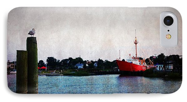 Lewes - Overfalls Lightship 2 IPhone Case by Richard Reeve