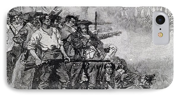 Lexington Green - If They Want War, It May As Well Begin Here, Engraved By F.h. Wellington IPhone Case by Howard Pyle