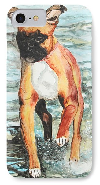 IPhone Case featuring the painting Leyla by Jeanne Fischer