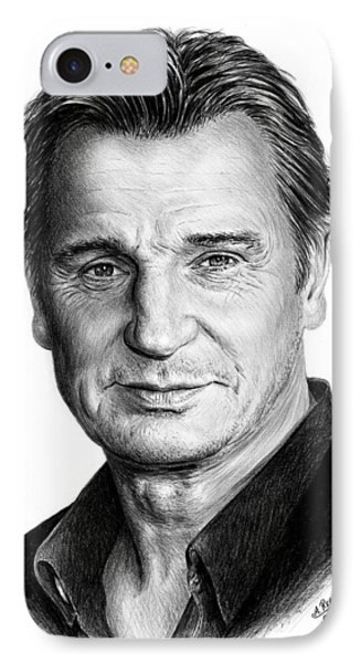 Liam Neeson IPhone Case by Andrew Read