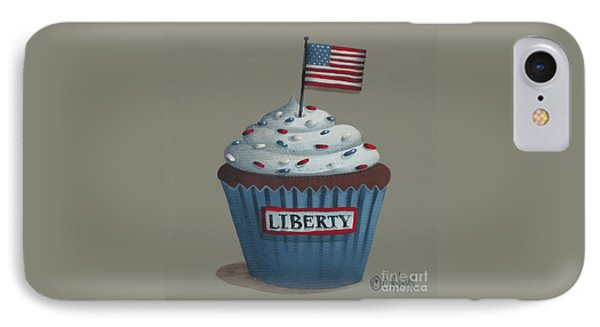 Liberty Cupcake IPhone Case by Catherine Holman