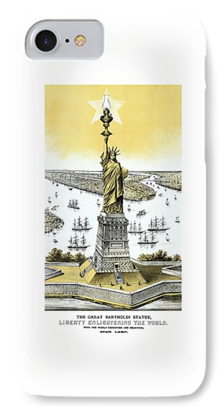 Liberty Enlightening The World  Phone Case by War Is Hell Store
