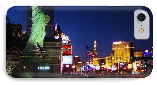 Liberty In Vegas Phone Case by John Malone