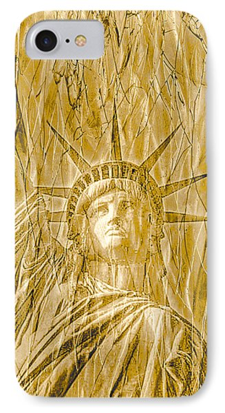 IPhone Case featuring the photograph Liberty Is Golden by Dyle   Warren