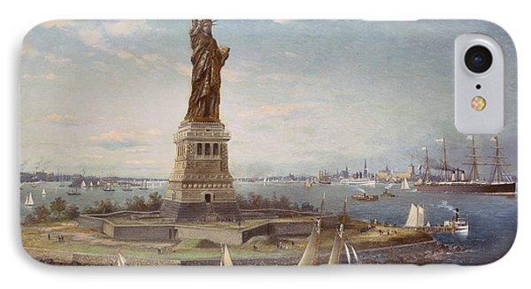 Liberty Island New York Harbor IPhone Case