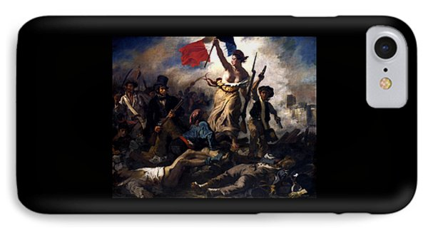 Liberty Leading The People During The French Revolution IPhone Case by War Is Hell Store