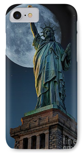Liberty Moon IPhone Case by Steve Purnell