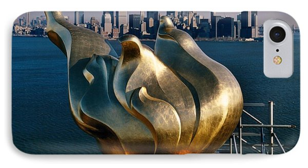 Liberty's Flame IPhone Case by Benjamin Yeager