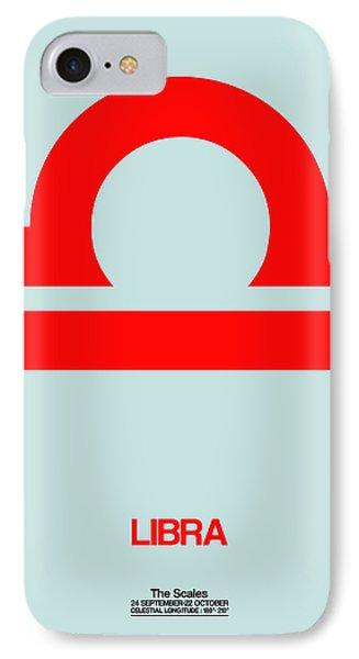 Libra Zodiac Sign Red IPhone Case