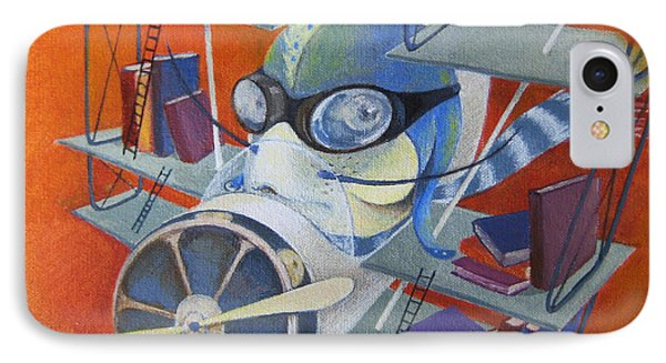 Librarian Pilot IPhone Case by Marina Gnetetsky