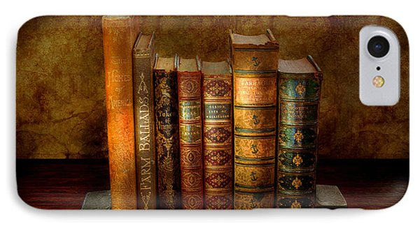 Librarian - Writer - Antiquarian Books Phone Case by Mike Savad