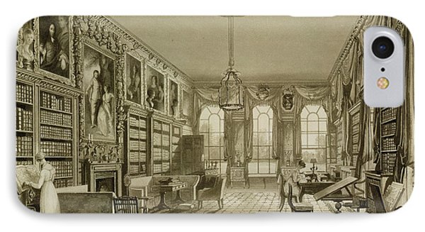Library As Sitting Room, Cassiobury IPhone Case
