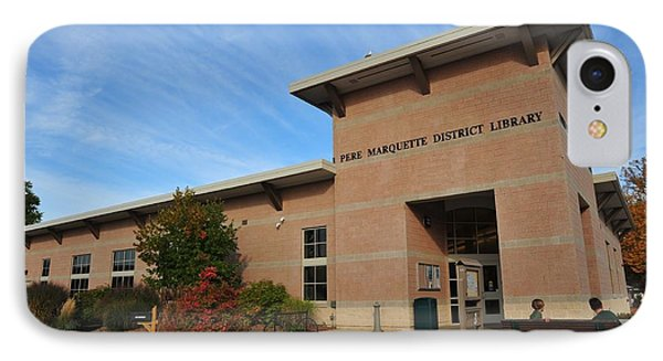 Library In Clare Michigan IPhone Case by Terri Gostola
