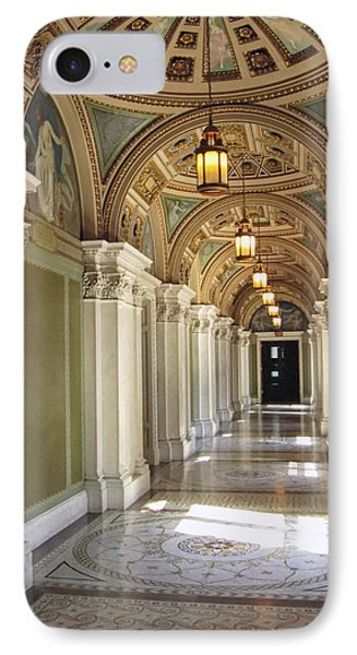 Library Of Congress Hallway Washington Dc IPhone Case by Mary Lee Dereske