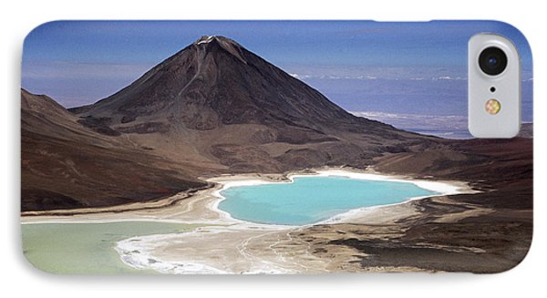Licancabur Volcano And Laguna Verde Phone Case by James Brunker