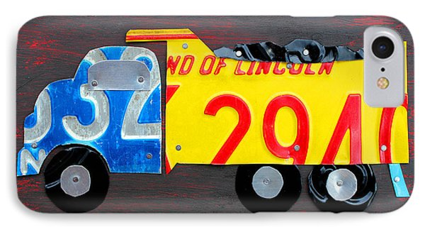 License Plate Art Dump Truck IPhone Case
