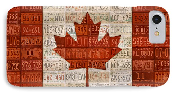 License Plate Art Flag Of Canada IPhone Case by Design Turnpike