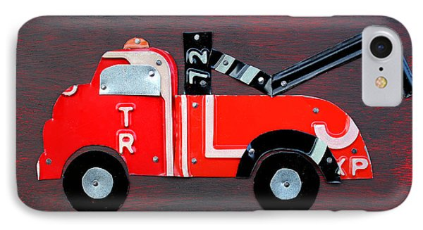 License Plate Art Tow Truck IPhone Case