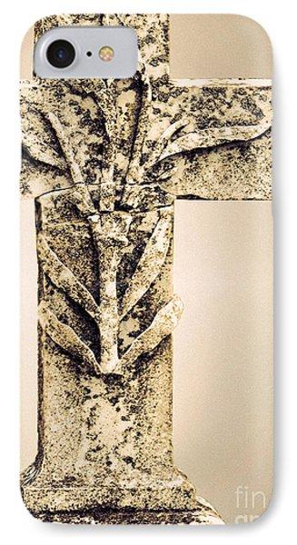 Lichen Cross Bronze IPhone Case