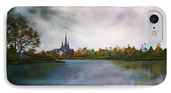 Lichfield Catherdral A View From Stowe Pool Phone Case by Jean Walker