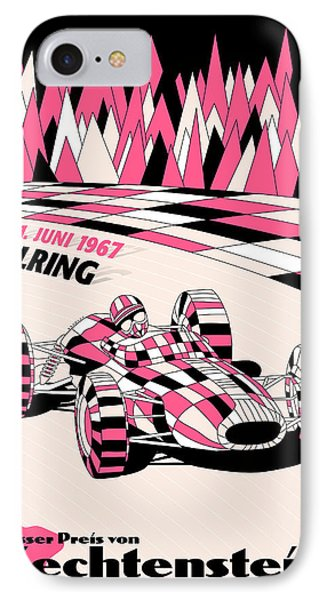 Liechtenstein 1967 Grand Prix IPhone Case by Georgia Fowler