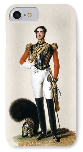 Lieutenant Thomas Myddleton Biddulph IPhone Case by Alexandre-Jean Dubois Drahonet