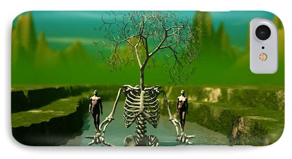 Life Death And The River Of Time IPhone Case by John Alexander