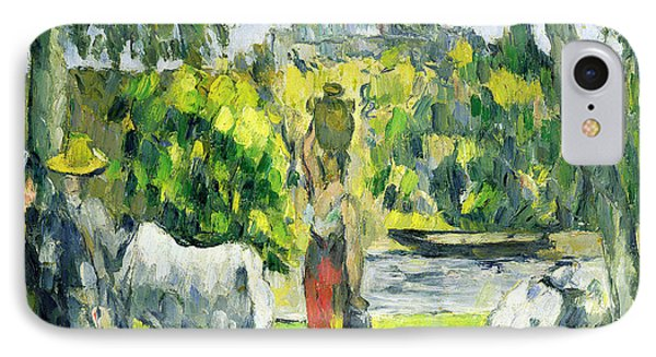 Life In The Fields IPhone Case by Paul Cezanne