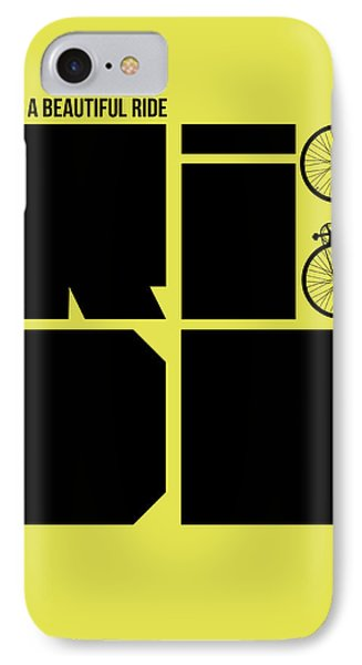 Life Is A Ride Poster Phone Case by Naxart Studio