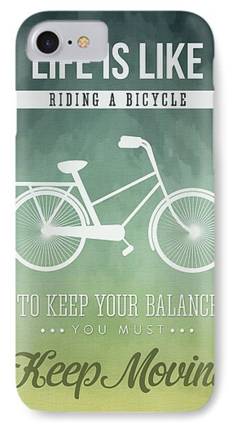 Life Is Like Riding A Bicyle IPhone Case by Aged Pixel