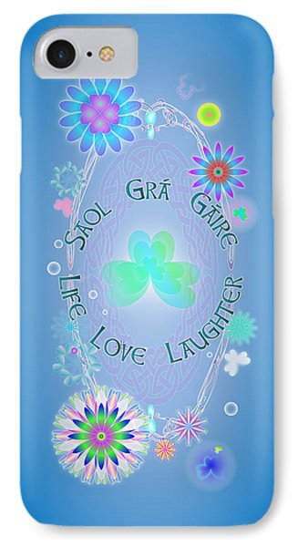 Life Love Laughter IPhone Case by Ireland Calling