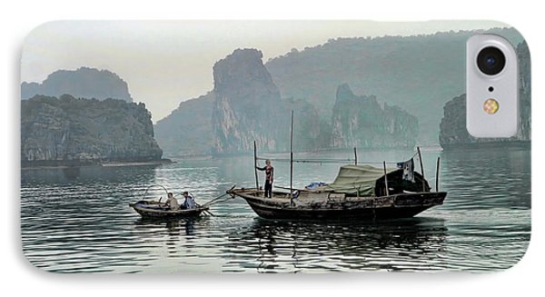 Life On Ha Long Bay I IPhone Case by Chuck Kuhn